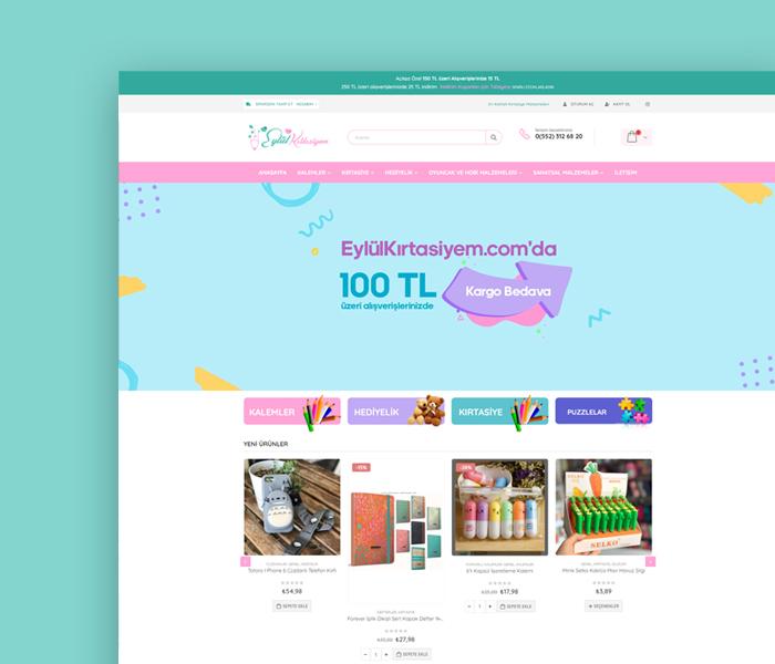 Eylül Kırtasiyem E-Ticaret ( UX – UI Web Tasarım Projesi )