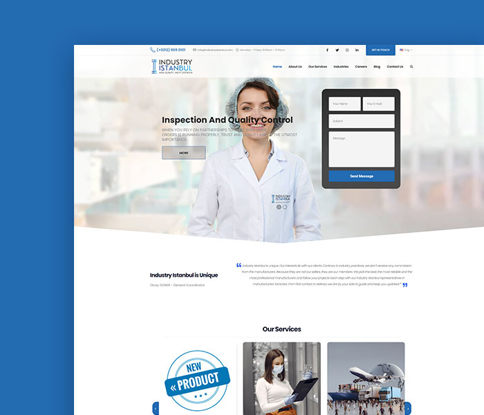 Industry Istanbul ( UX – UI Web Tasarım Projesi )