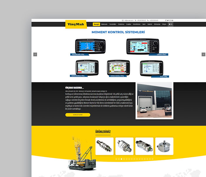Vinçmak Makine ( UX – UI Web Tasarım Projesi )